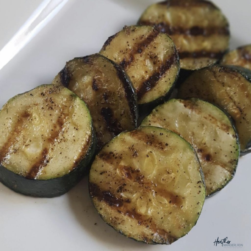Zucchini tastes great grilled