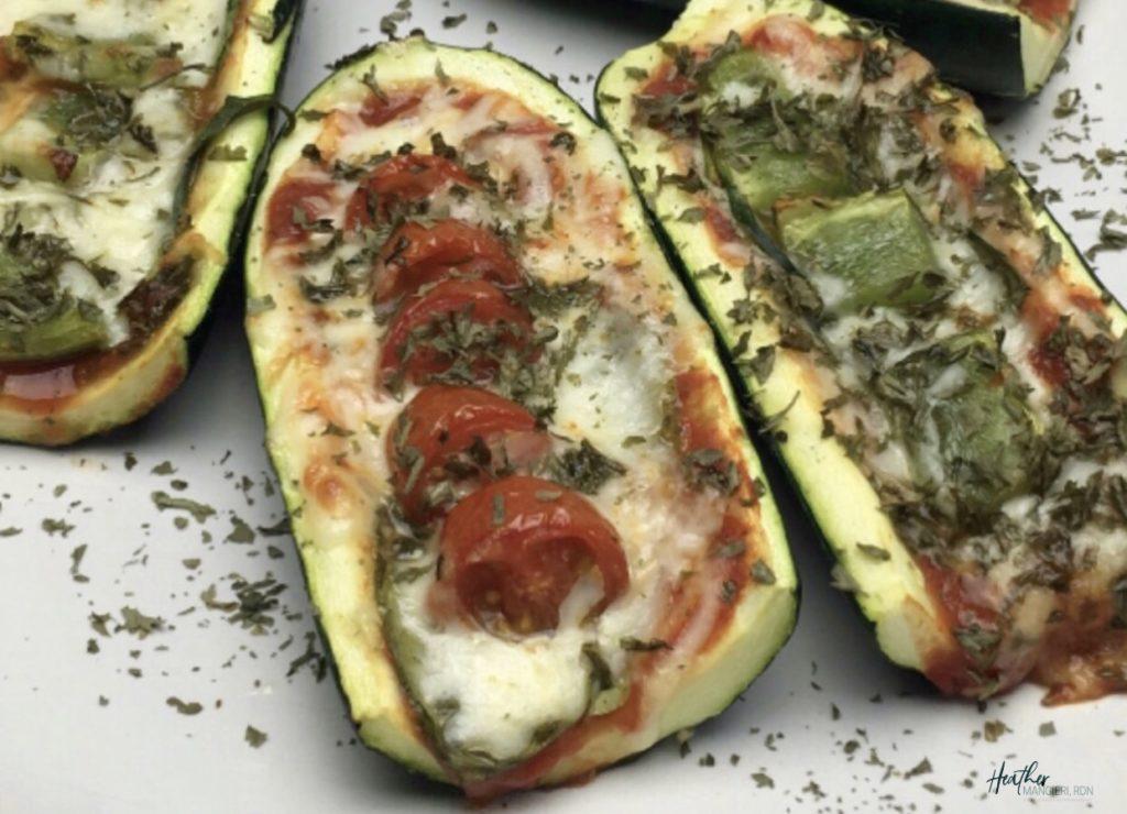 Easy and healthy zucchini pizza boats recipe