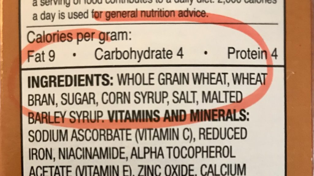 Read the ingredient list on food packages to identify whole grains. It should say whole wheat or whole grain