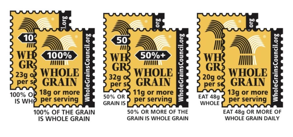 The Whole Grain STamp that is found on some food packaging products