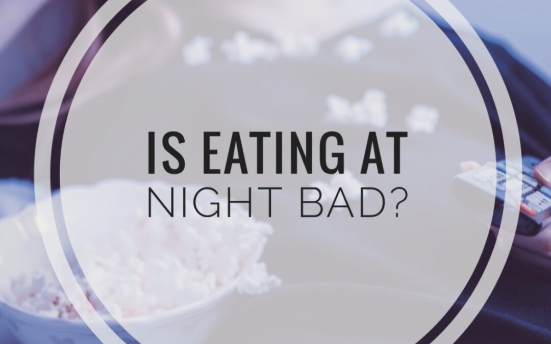 Eating at night isn't bad, but eating too much at night is. If you need help with your late night eating habit, try some of these strategies to help you stop.