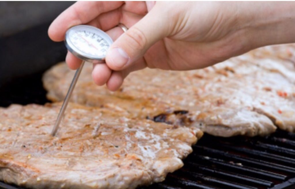Using a food thermometer is the only true way to make sure food is cooked to a safe internal temperature. Use one when cooking any animal protein and use the guide in this post to assure the temperature of your food is cooked properly.