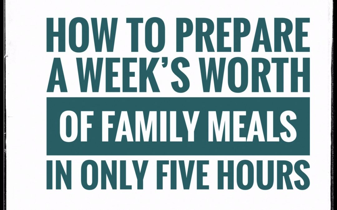 Five hours, one day a week is all you need to eat healthy, homecooked meals all week long. I'm sharing the 8 steps needed to put it into practice, and a sample meal plan to get you started