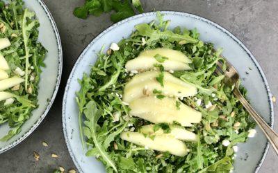 Arugula and Pear Salad with Lime Cilantro Vinaigrette