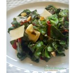 Swiss Chard with Fresh Shaved Parmesan
