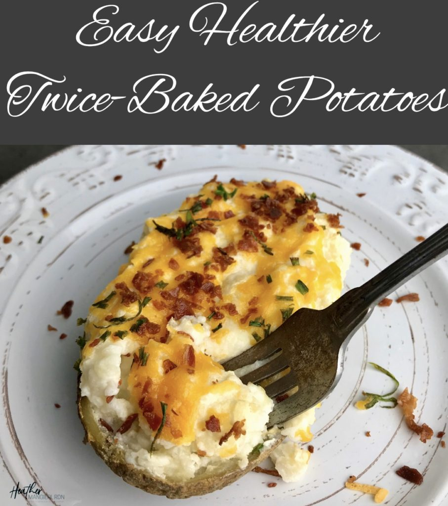 Easy healthier and calorie controlled twice baked potato recipe
