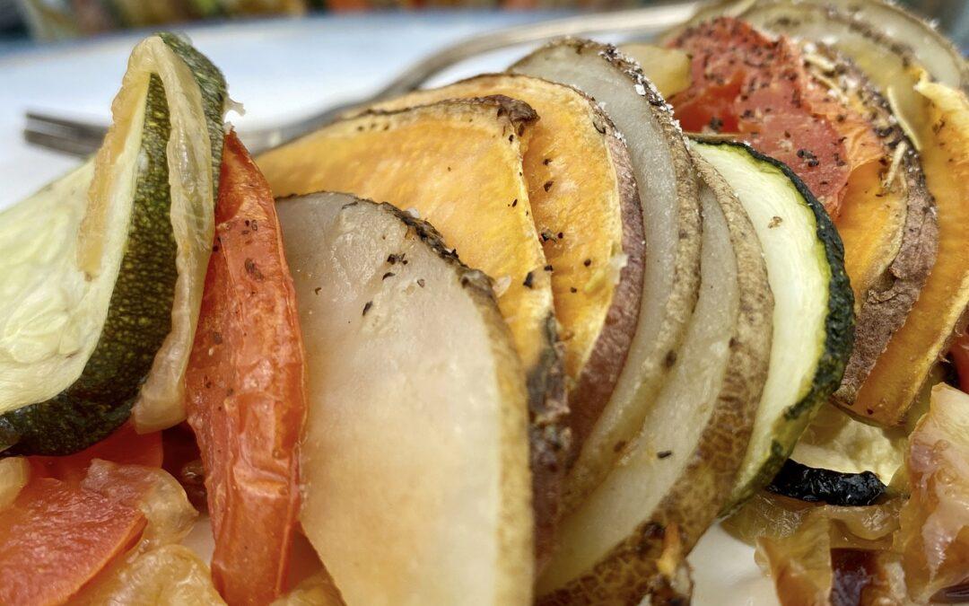 Potato, Tomato And Zucchini Casserole