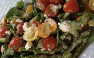 Tri-colored Tomato and Asparagus Salad