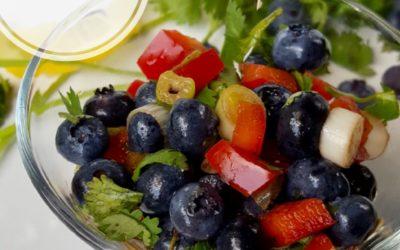 Spicy Blueberry Balsamic Salsa