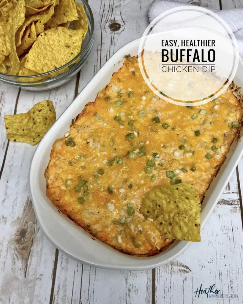 Easy Healthy Buffalo Chicken Dip