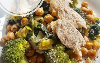 Chicken, Chickpeas & Broccoli w/Spinach Sauté