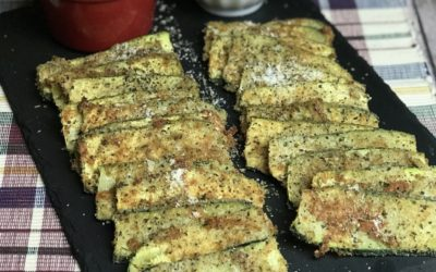 Baked, Breaded Zucchini