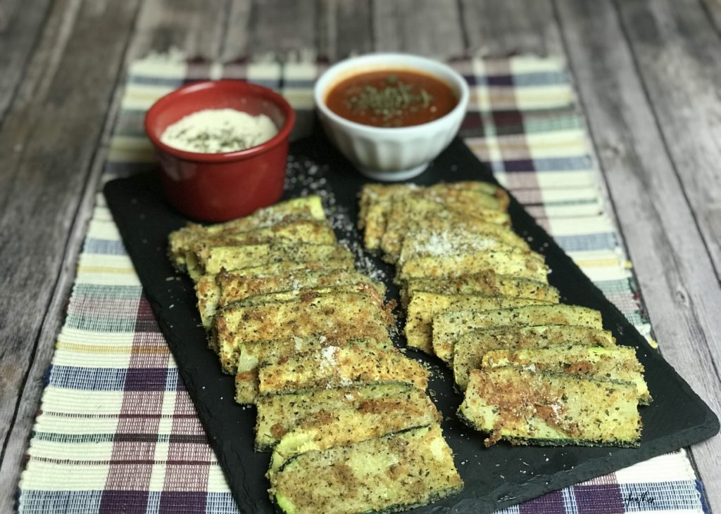 This baked breaded zucchini is a crispy, crunchy alternative to the traditional fried option. It tastes great, and it's better for you
