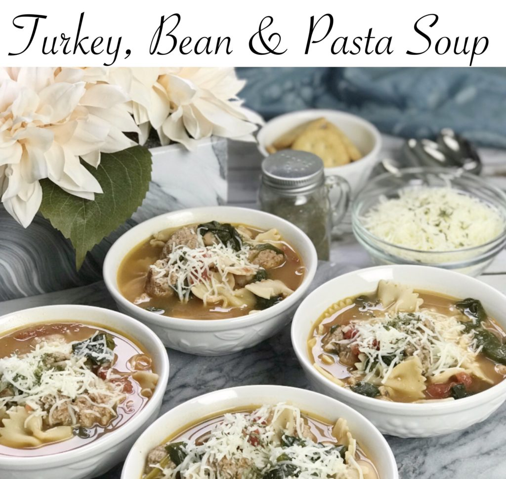 This turkey, bean and pasta soup is packed with lean protein, healthy carbohydrates and lots of phytonutrients. It's a perfect meal to eat as a family and it's great re-heated.