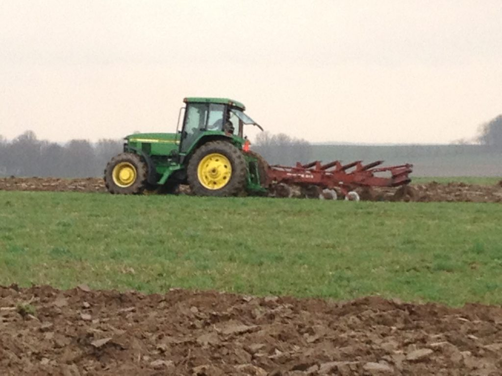 The use of tractors in modern dairy farming