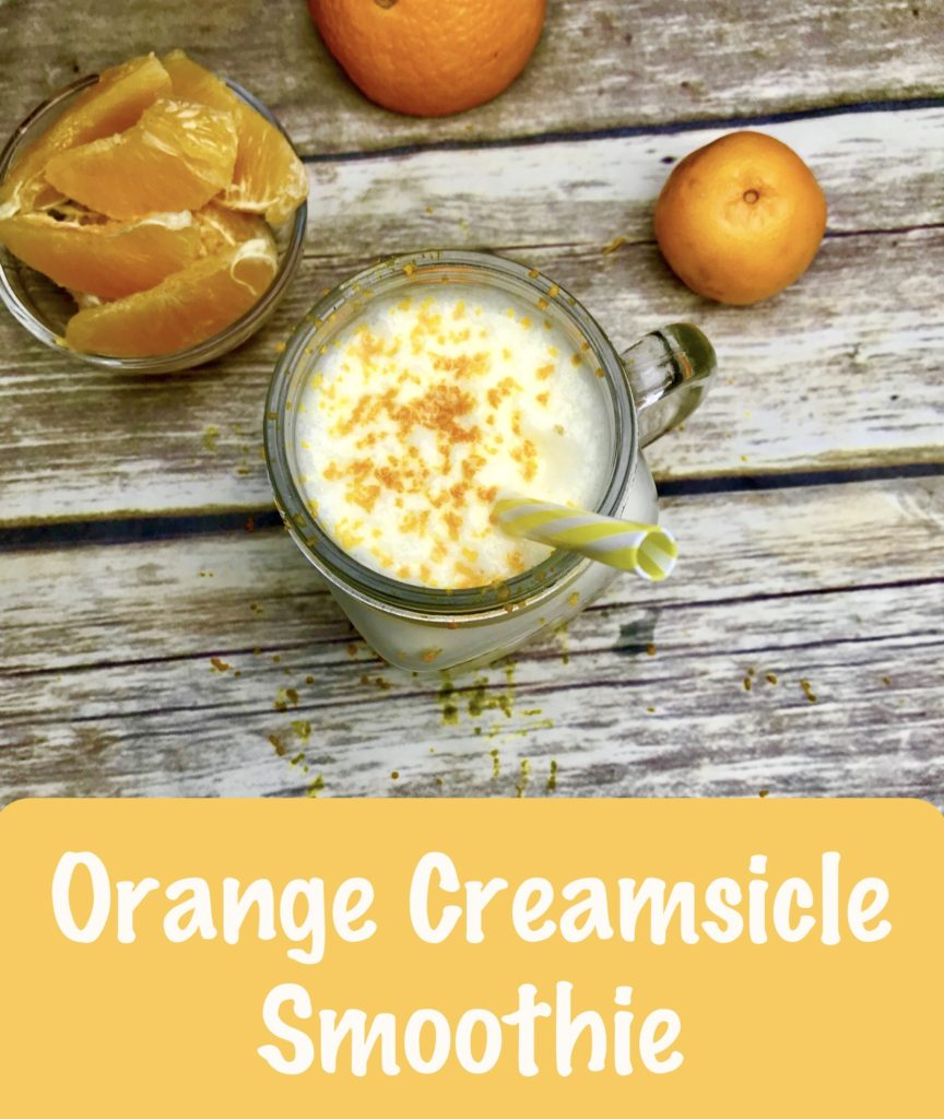 Orange Cramsicle Protein Smoothie Made With Cottage Cheese