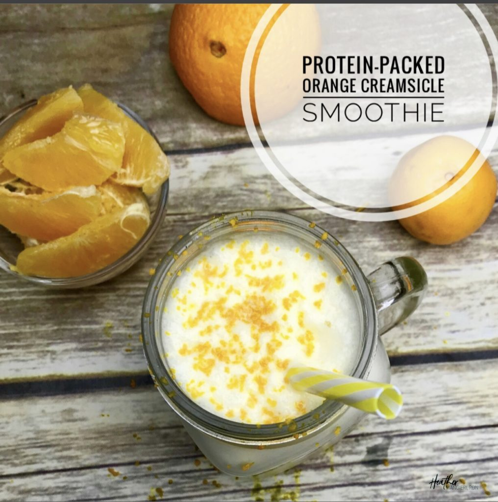 protein packed orange creamsicle smoothie