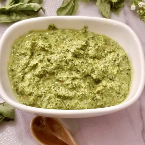 Fresh HOmemade Basil Pesto recipe