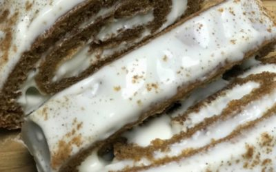 Protein-Packed Pumpkin Roll with Reduced-Calorie Cream Cheese Filling