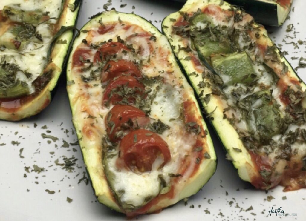 Healthy Zucchini Pizza Boats make a great healthy and balanced snack