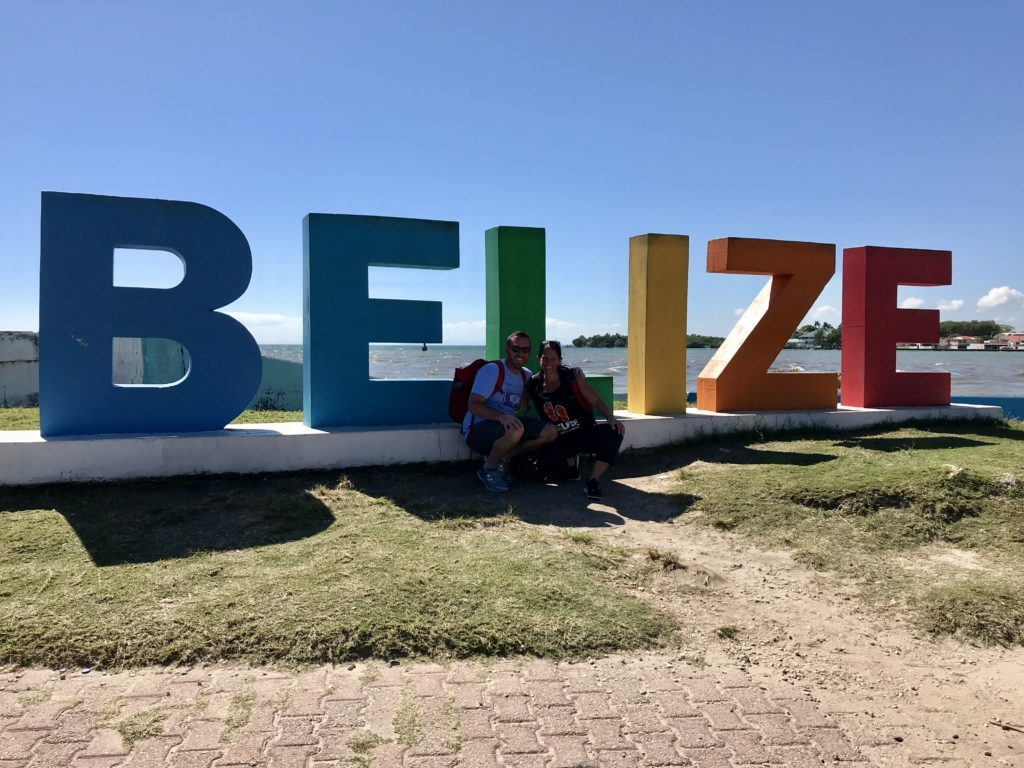 Photo of the Belize sign in Sand Pedro Belize