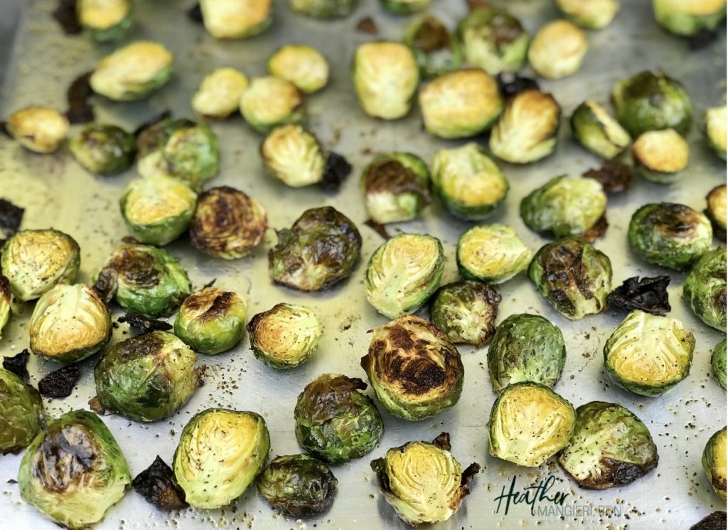 How to make healthier oven roasted Brussels Sprouts
