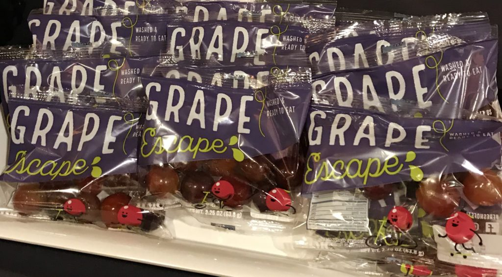 Individual Grapes -- we learned new, innovative ways that produce is being grown and packaged specifically for food service establishments.