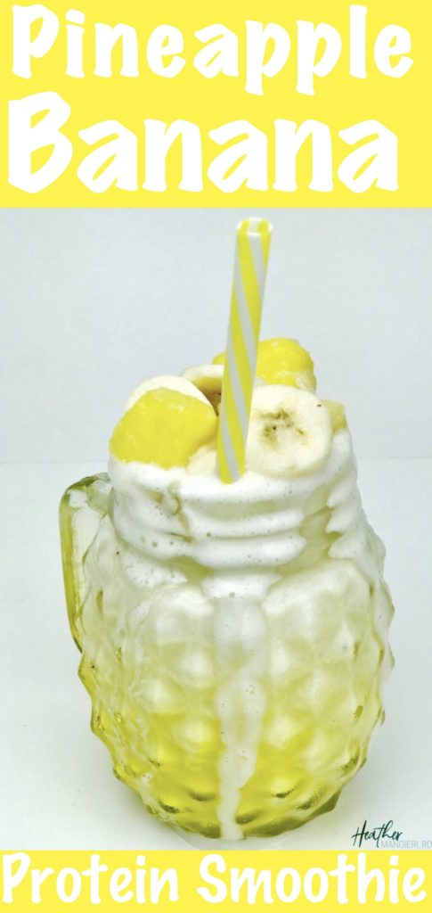 Recipe for pineapple banana protein smoothie
