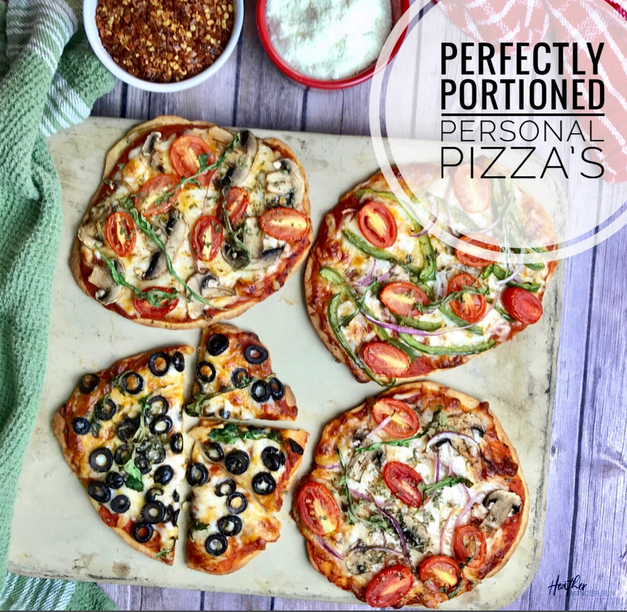 Perfectly Portioned Pizza Heather Mangieri Nutrition