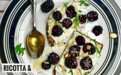 Ricotta and Blackberry Toast