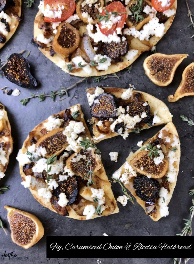 Figs, Caramelized Onions & Ricotta Flatbread Recipe