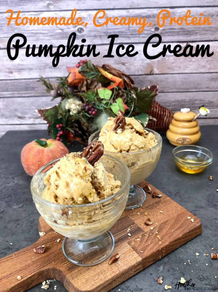 Protein packed pumpkin ice cream low fat and low calories