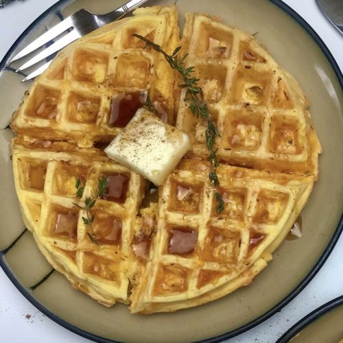 I share the calories, fat, saturated fat and sodium in chaffles and my view on if they are healthy. PLus, I share my two ingredient recipe and how to boost the nutrition in this popular dish.