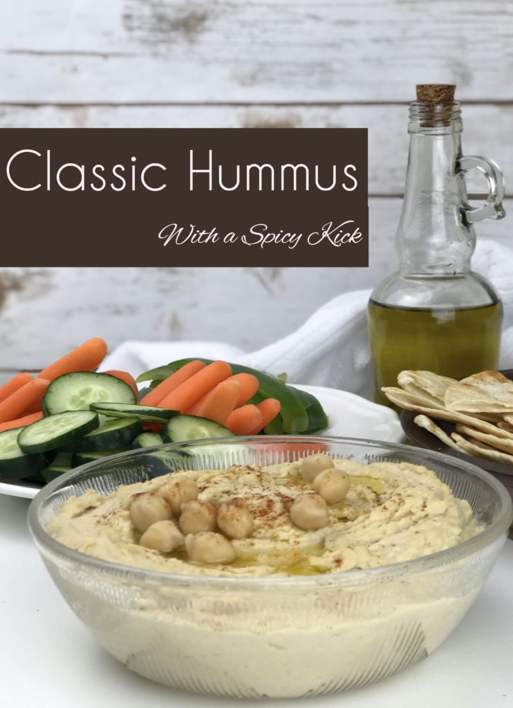 This post talks about what is hummus, is hummus healthy and how to make hummus. A classic recipe for hummus with a spicy kick.