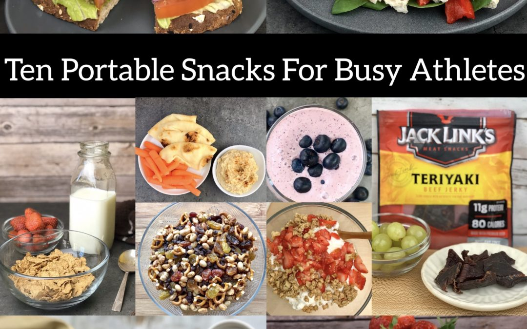 Use this list of portable, nutrient-rich snacks to help you stay fueled, energized and prepared for sports practice, training and competition.