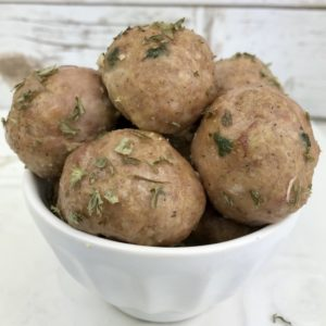 These basic turkey meatballs are easy to make and can be frozen, then re-heated for a quick meal or snack. Make them in bulk, then use them to make one of the 10 different dinners ideas.