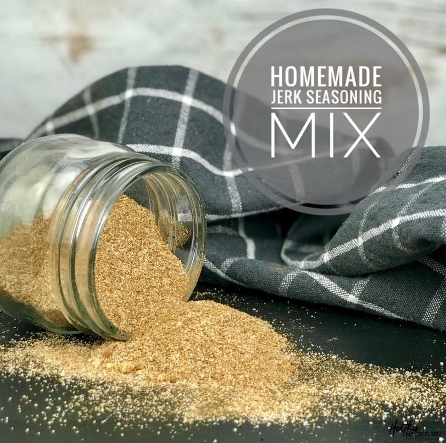 This homemade jerk seasoning blend is a great way to add spice and flavor to chicken, fish or other lean protein, and it also makes a great marinade