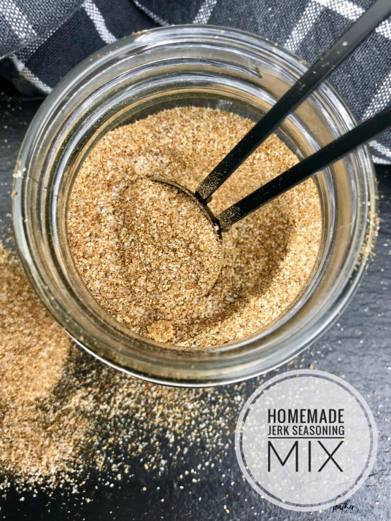 This homemade jerk seasoning blend is a great way to add spice and flavor to chicken, fish or other lean protein, and it also makes a great marinade.