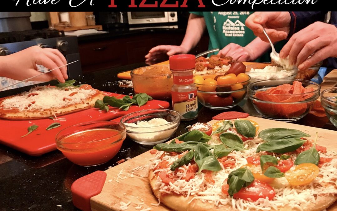 Looking for a fun, family activity that even teenagers will enjoy? Take to the kitchen and challenge your crew to a friendly pizza competition.