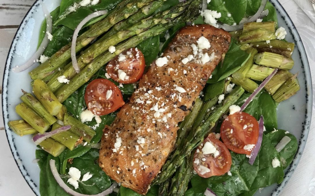 Salmon & Roasted Asparagus Salad