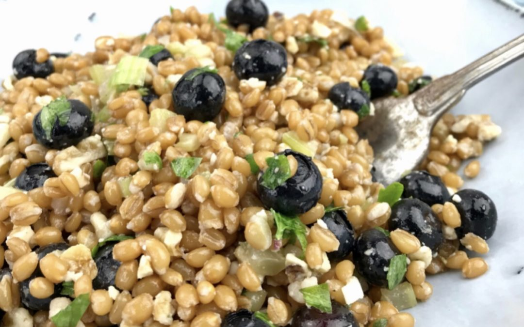 Whole Grain Wheat Berry And Blueberry Salad