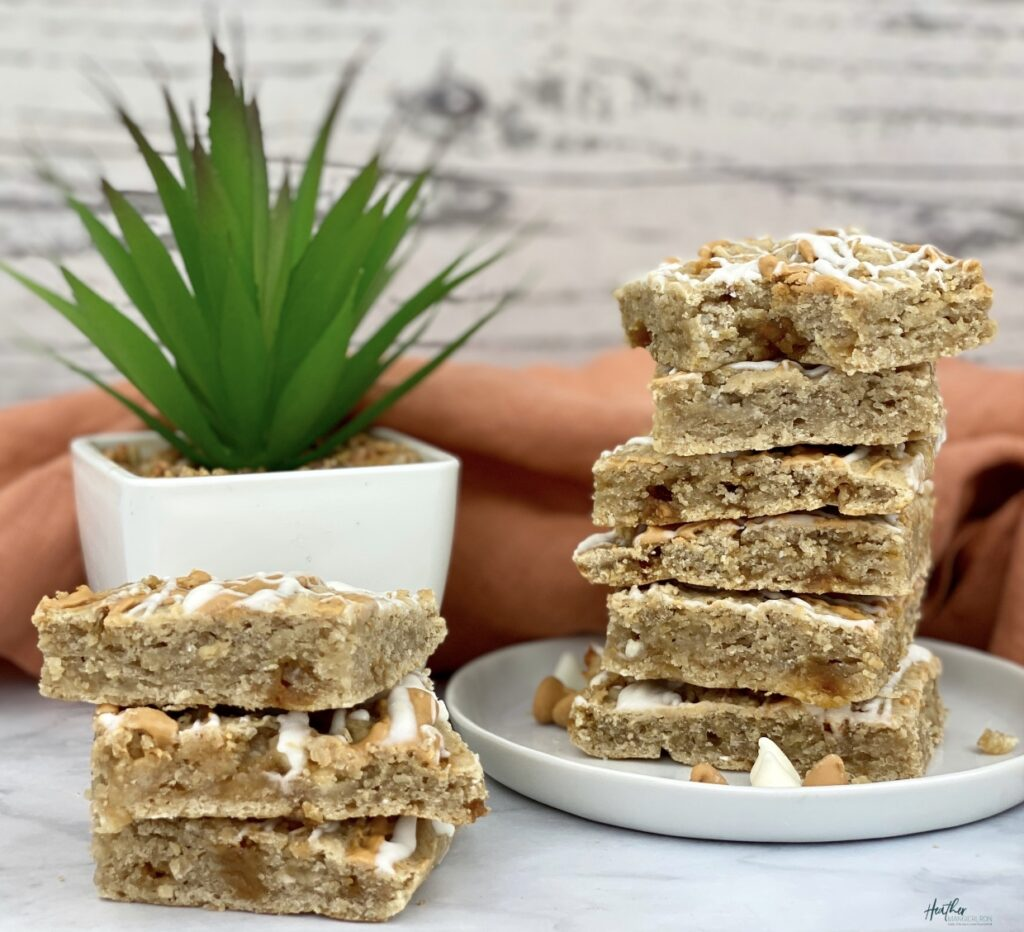 Blondie Bars made with white great northern beans.