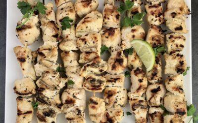 Chicken Kabobs With Lime Cilantro Vinaigrette Marinade
