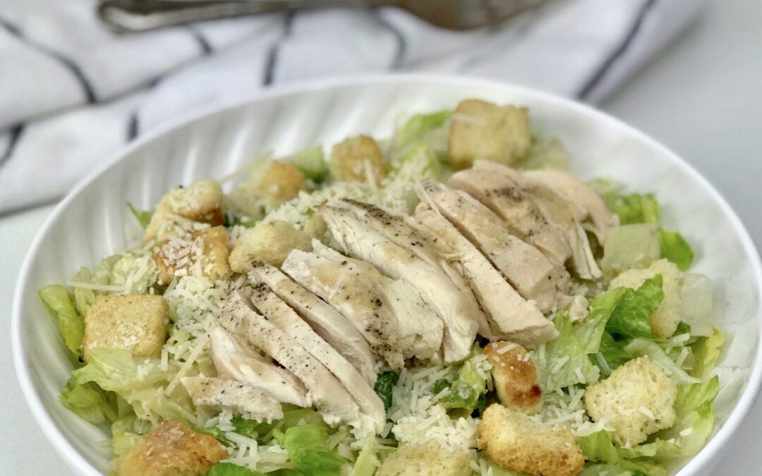 Healthier Chicken Caesar Salad