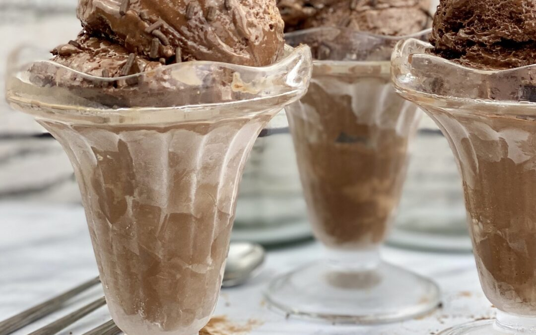 Protein Packed, Low-Fat Chocolate Ice Cream