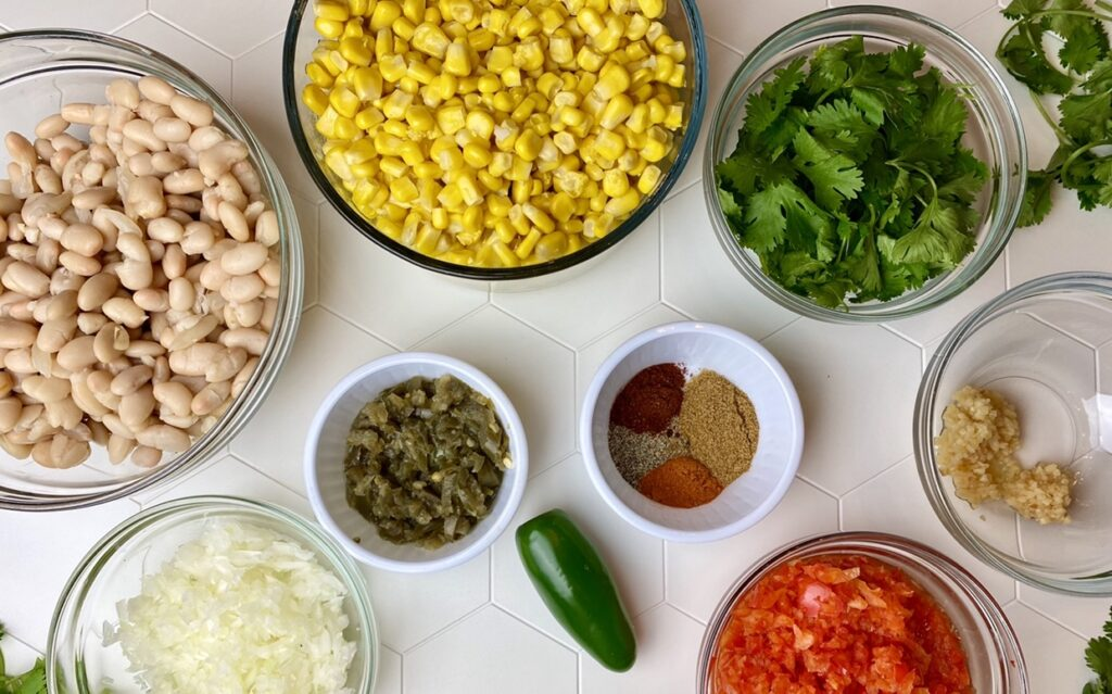 Measure out all of the ingredients before you start to make it easier