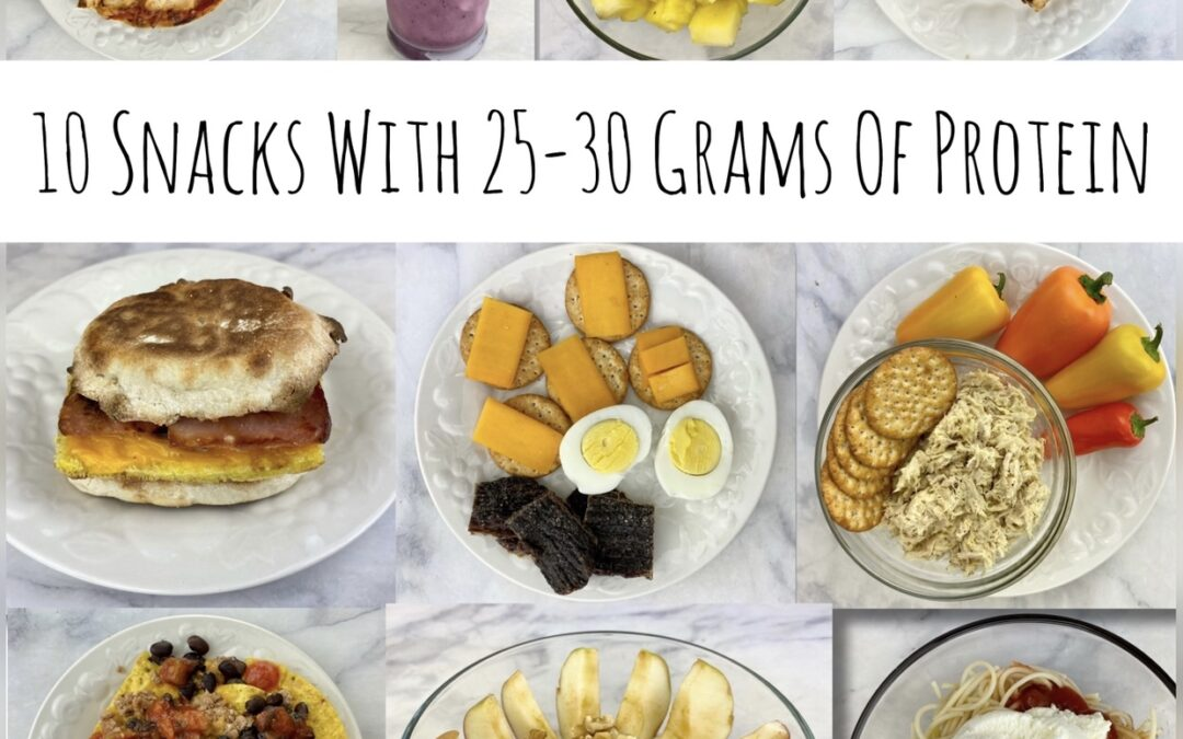 Ten Snacks With 25-30 Grams Of Protein