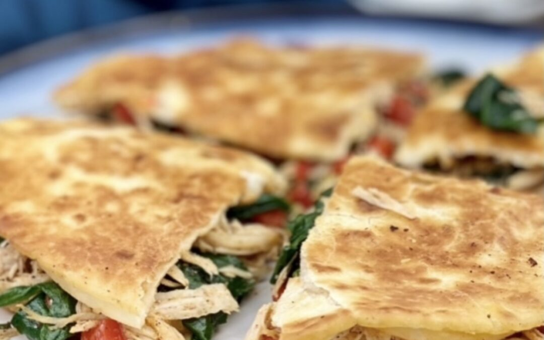 Easy Chicken And Spinach Quesadilla