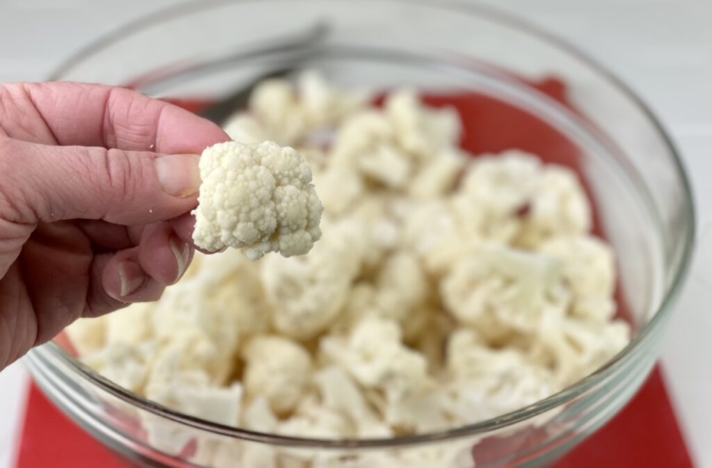 This easy, oven-roasted cauliflower is super simple to make and will have the entire family loving this nutritious vegetable. Just one serving provides 6 grams of fiber, 100% of the daily value for vitamin C and is an excellent source of folate, potassium and vitamins.