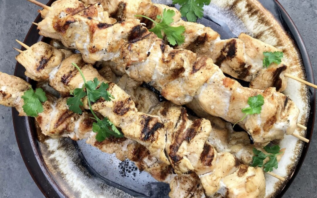 Simple Jerk Chicken Kabobs
